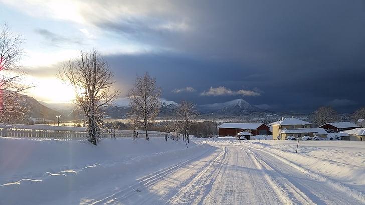 talvi, talvi maisemia, maisemakuvaukseen, Scandinavia, Pohjoismaiden, Norja, kylmä