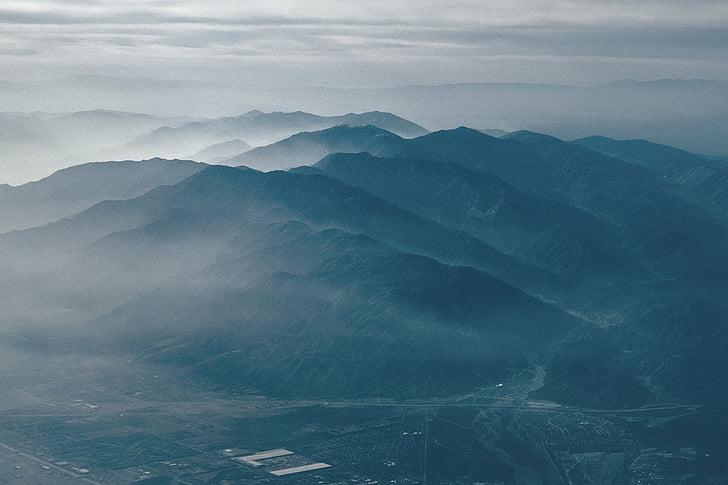 maastik, mäed, orud, Hills, pilved, mägi, loodus
