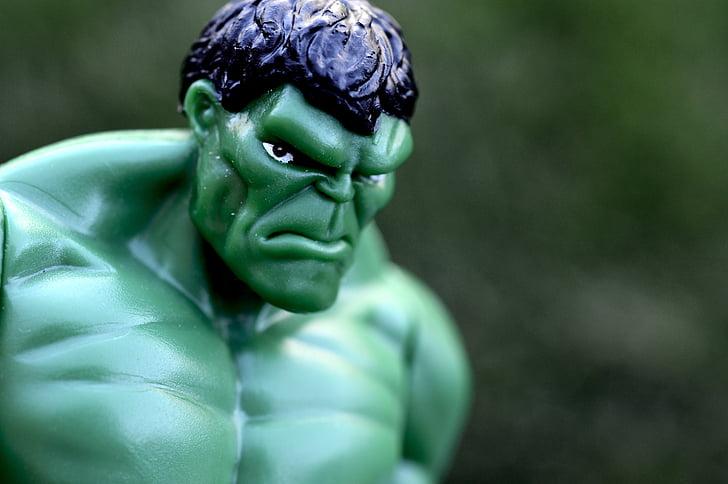 neticami pontons, Supervaronis, spēcīgs, muskuļi, zaļa, dusmīgs, jauda