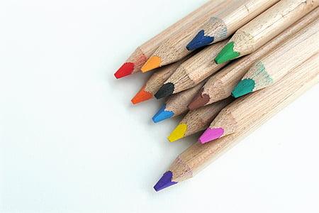 Värv pliiatsid, Värviline, värvi, Joonista, Värv, värvilised pliiatsid, pliiatsid