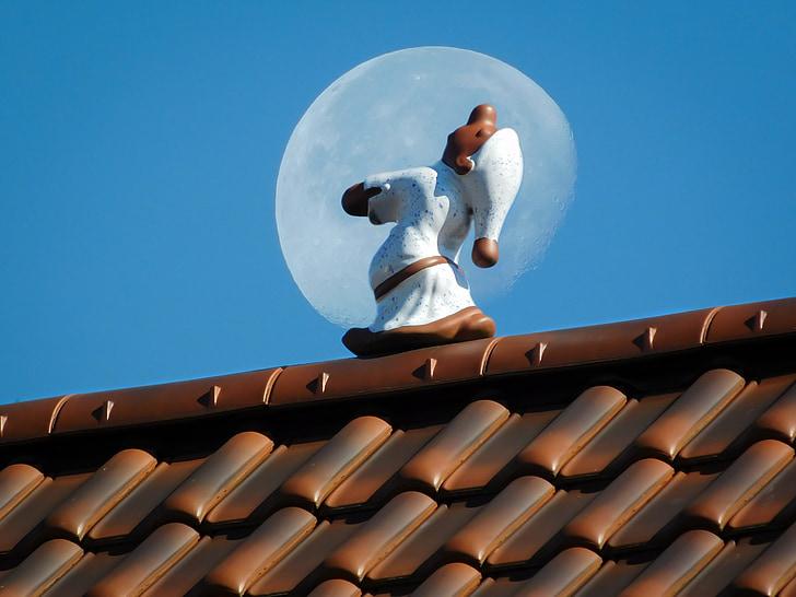Lluna, son, sostre, noctàmbuls, figura, rajola, Maó