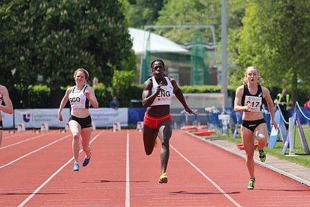 anyika onuora, 100 metres, dones, corrent, acabats, primer, cursa