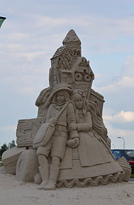 sand sculpture, structures of sand, tales from sand, fairytales sand sculpture, statue, sculpture