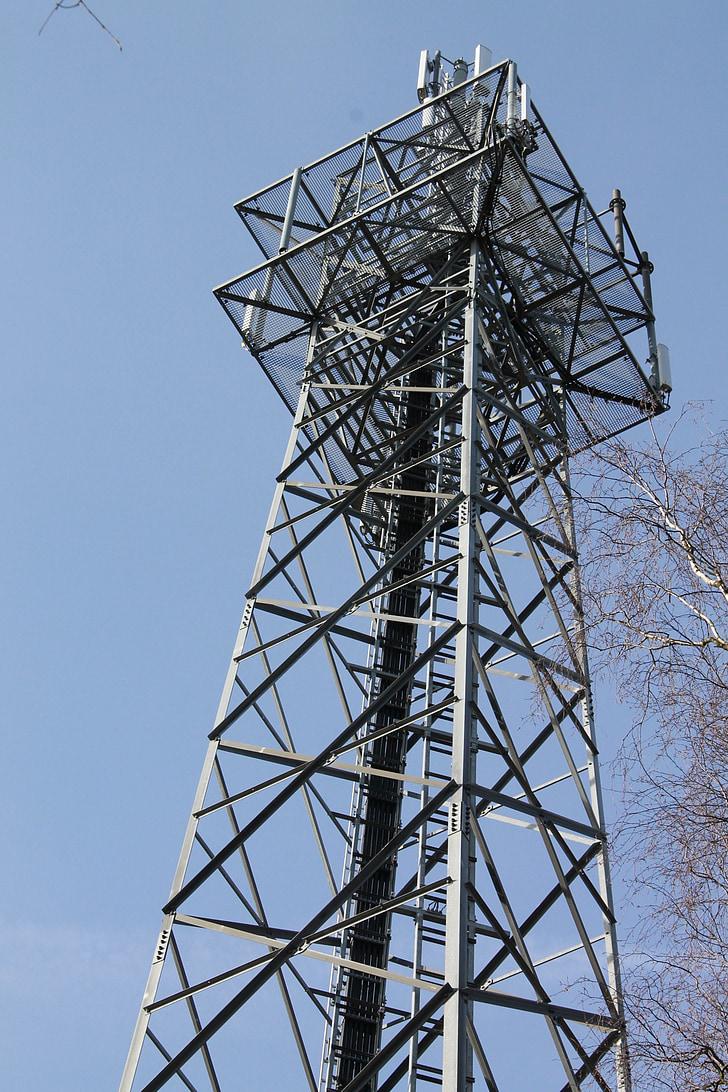 라디오 타워, 편리한 funkturm, 시스템을 전송, 라디오, 타워, 기술, 통신