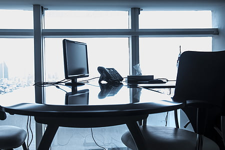 office, work, computer, portable, business, employment, contrasts