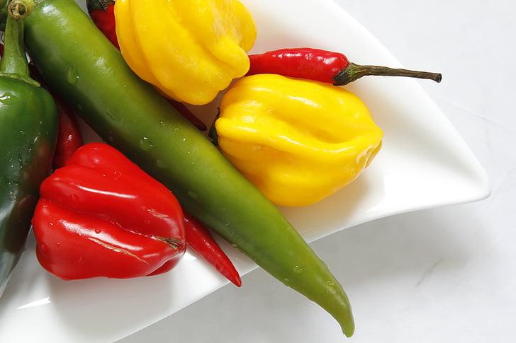 feferon, พริกไทย, อาหาร