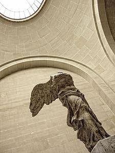 Nike, Louvre, Pariis, Prantsusmaa, muuseum, Art, Antiikaja