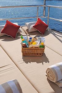 lit de soleil, coussin de soleil, bronzage, produits de bronzage, Dim, vacances, été