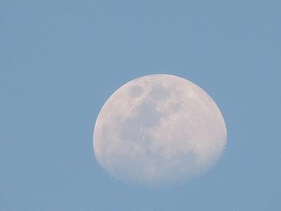 Lluna, la lluna de dia, cel, dia