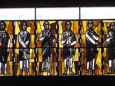 finestra de l'església, vidre, l'església, color, brillen, colors, religió
