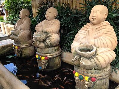 Buddha, Filipíny, Restaurace, Asie, Laguna, rybník, přání