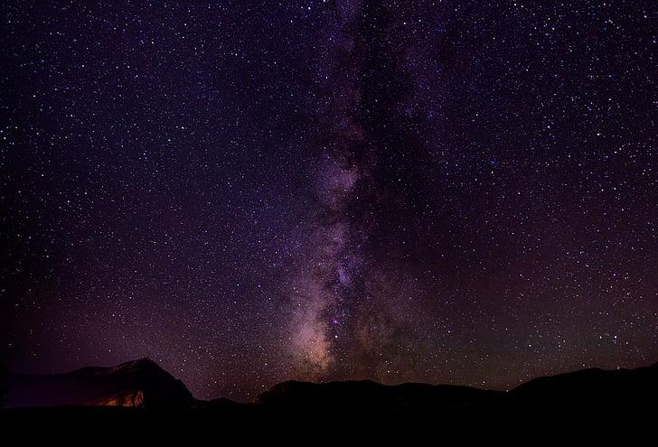 astronomy, cosmos, dark, milky way, nature, night, sky