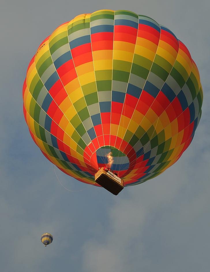 hőlégballon, emelkedő, Sky, színes, repülés, esemény, Lift