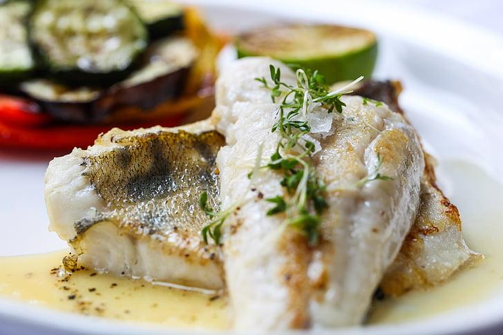 peix, aliments, verdures, dieta, llimona, Zander, aliments i begudes