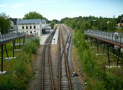gleise, train, seemed, yield, railway, railway station, railroad track