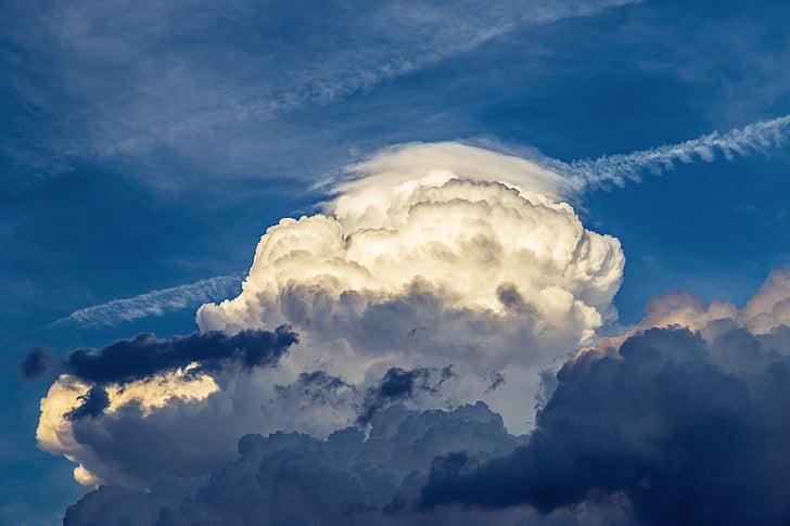 núvols, el cel, tempesta, els núvols, cel, clar