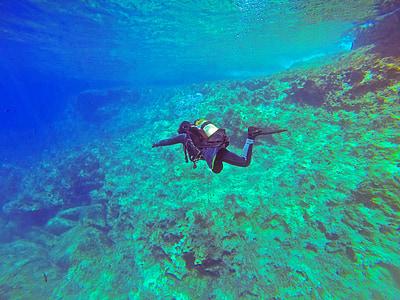 Scuba diver, Scuba, ronilac, PADI, vode, pod vodom, more
