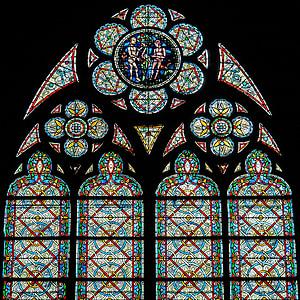 Vitrall, roseta, Museu del Louvre, Catedral, arquitectura, l'església, vidre