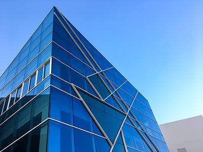 projectes arquitectònics, arquitectura, cel blau, edifici, construcció, llum natural, disseny
