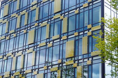 akna, hoone klaasist, kaasaegsete hoonete, akna, arhitektuur, klaas - materjal, büroohoone