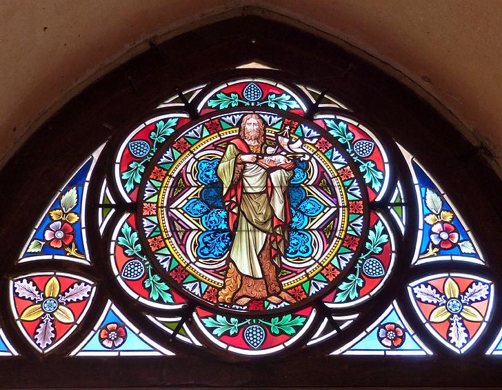 finestra, l'església, finestra de l'església, vidrieres, color, vidre, finestra de vidre