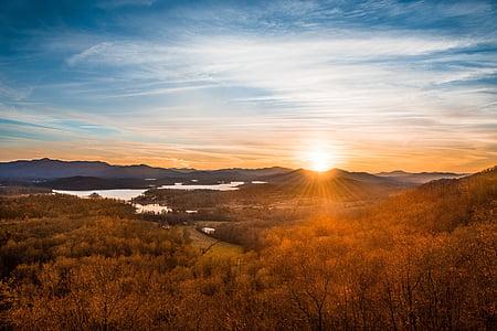 ηλιοβασίλεμα, ουρανός, φύση, τοπίου ηλιοβασίλεμα