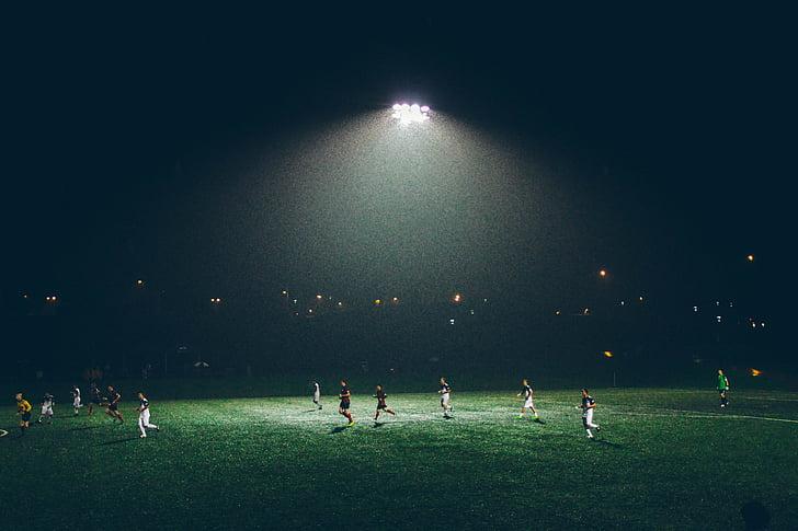 sportisti, Futbols, palaist, Futbols, Sports, sporta jomā, stadions