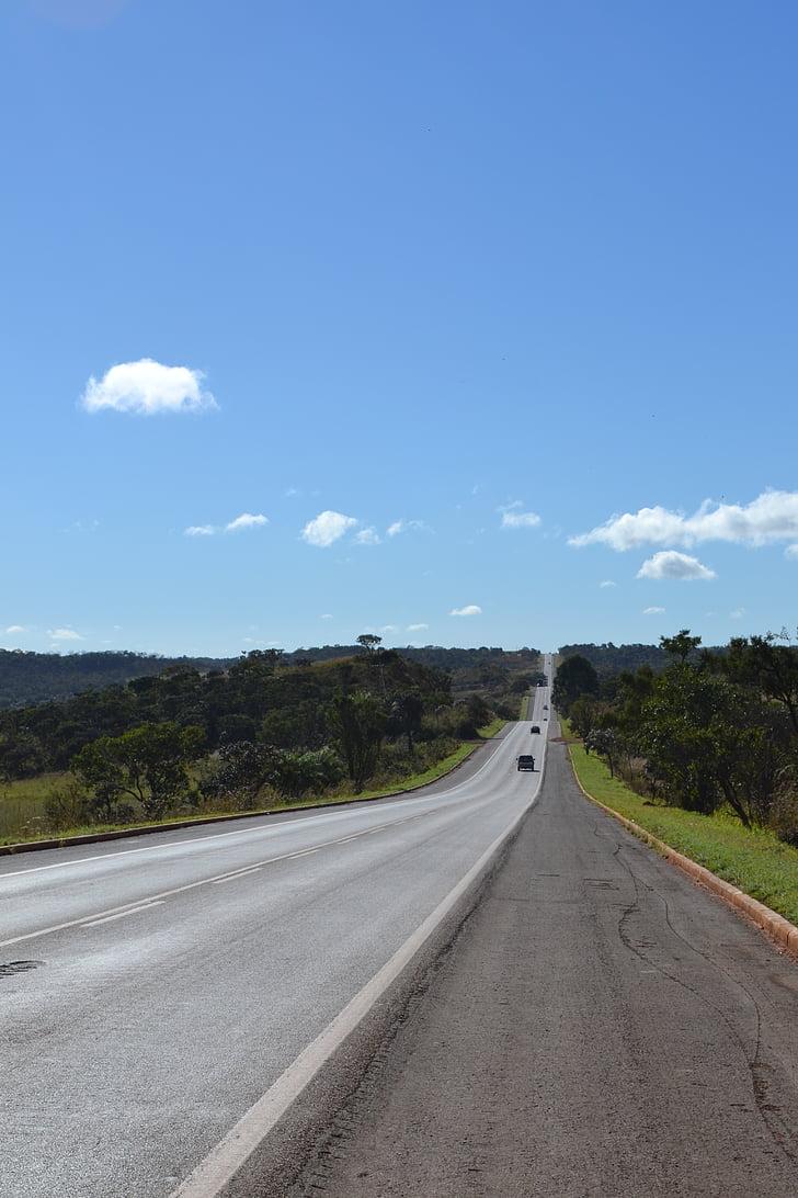 đường, bầu trời, Thiên nhiên, chuyến đi, đường dẫn, đường cao tốc, Ngày