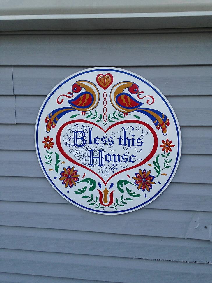 bless this house, pa dutch, pennsylvania dutch, colorful, decoration