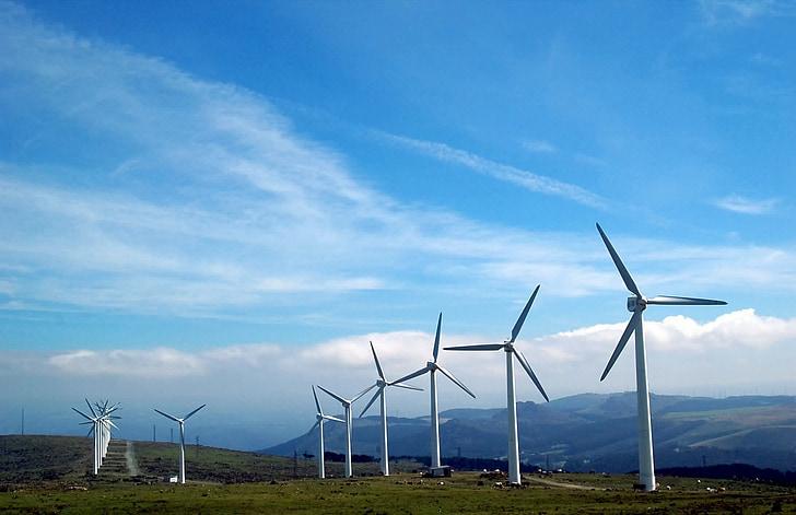 Cape ortegal, Galicia, tuulikud, taastuvenergia, tuulepargi, sõukruvi, elektrienergia tootmine