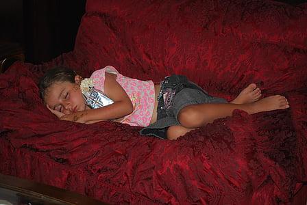 child, sleeping, women, bed, people, females, bedroom
