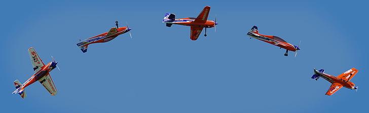 aircraft, building kit, hobby, fly, blue, flying, sky