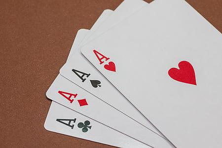 póker, kártyajáték, Játssz pókert, szerencsejáték, kártyák, kártyázás, szív