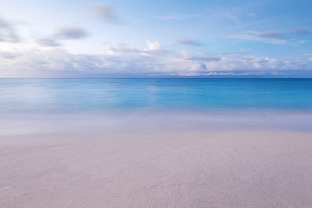 blue, summer, scene, sea, scenic, clear, paradise