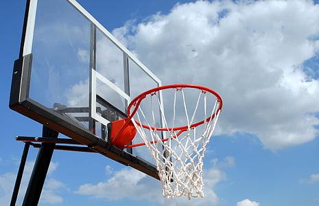 pista exterior de bàsquet, vora, xarxa, esport, bàsquet, recreació, joc
