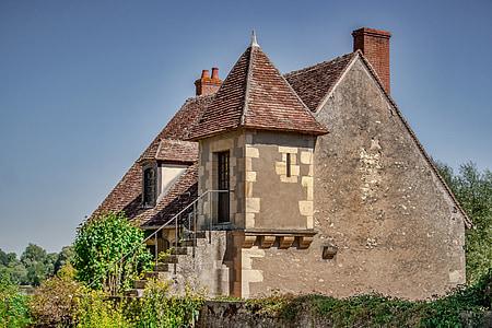 Apremont, barreja, poble, França, ex, típic, medieval