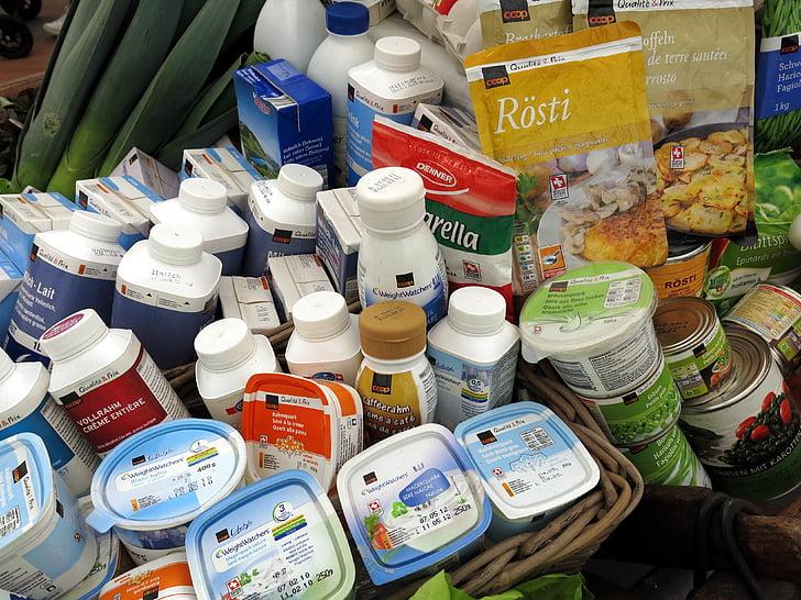 llet, Quark, iogurt, aliments, esmorzar, Nutrició, gamma