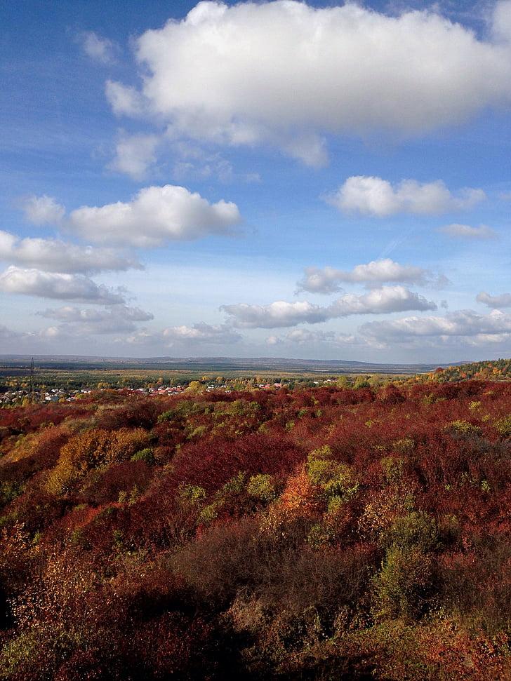 Olkusz, Poola, maastik, Sügis, pilved, taevas