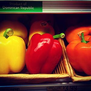 Bell peppers, Capsicum, pārtika, tirgus, dārzeņi, dārzenis, aktualitāte