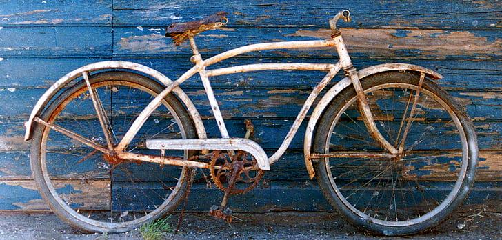 bicicleta, vell, bicicletes, anyada, grunge