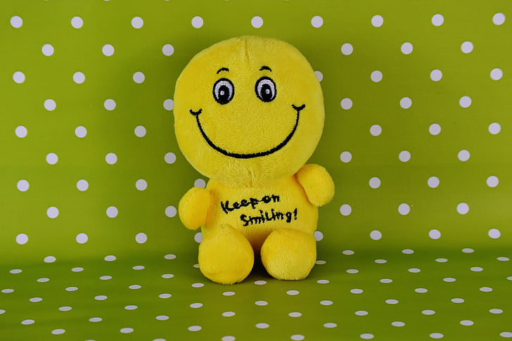 somrient, divertit, emoticon, riure, somriure