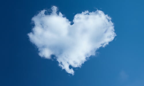 серце, небо, Даля, Синє небо, Хмара - небо, синій, дим - фізична структура
