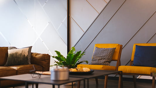Banc, cadires, confort, contemporani, mobles, casa interior, Hotel