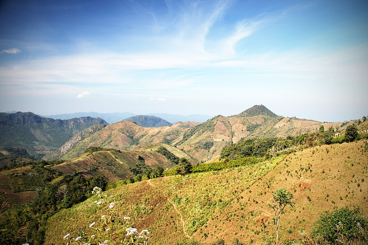 mountains, nature, landscape, summit, away, kalaw