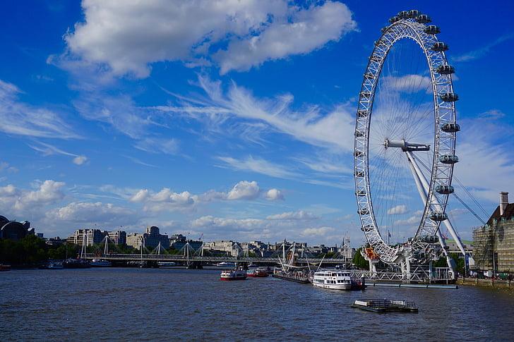 london eye, ferris wheel, london, uk, arts culture and entertainment, amusement park, amusement park ride