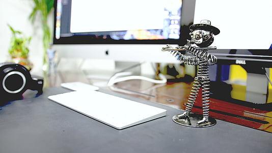 computer, desk, apple desk, apple des, technology, apple, office