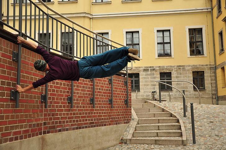 parkour, climb, acrobatics, sport, building exterior, architecture, built structure