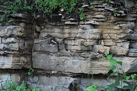 sedimentació, pedra, roques, Geologia, sediment, natura, Roca