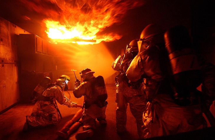 gaisro, liepsna, Naikinti pratimai, oro pajėgos, feuerloeschuebung, prekės ženklo, gelbėjimo