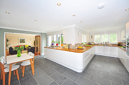 cuina, casa, cuina de luxe, interior casa luxe, rajola, contemporani, moderna
